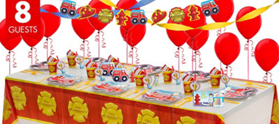 Firefighter Party Supplies Super Party Kit