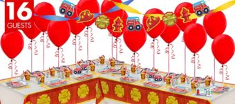 Firefighter Deluxe Party Kit for 16 Guests