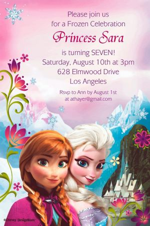 Custom Frozen Invitations