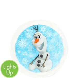 Yazzles Light-Up Olaf Round Sticker Badge - Frozen