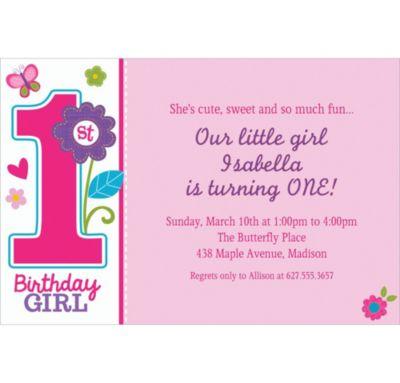 Custom Sweet Birthday Girl Invitations