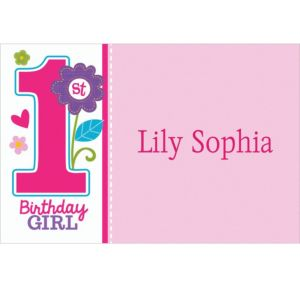 Custom Sweet Birthday Girl Thank You Notes