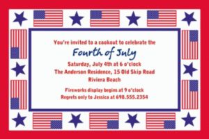 Custom Patriotic Party Invitations