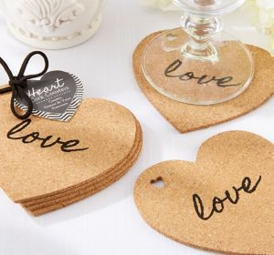 Love Heart Cork Coasters