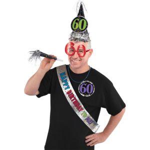 60th Birthday Accessory Kit 6pc