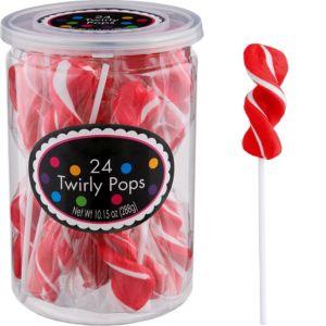 Red Twirly Lollipops 24pc