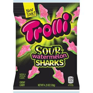 Trolli Sour Watermelon Sharks Gummy Candy 12pc