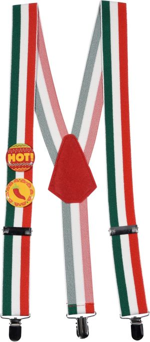 Cinco de Mayo Suspenders 3pc