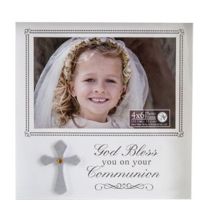 White First Communion Shadow Box Photo Frame