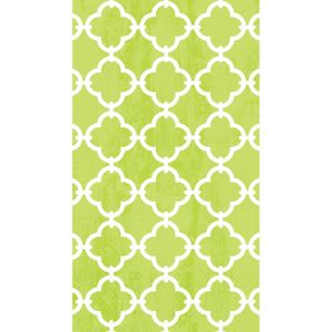 Spring Green Moroccan Tile Guest Towels 16ct