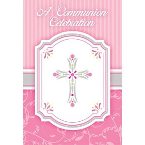 Girl's Communion Invitations 8ct