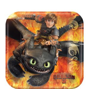 How to Train Your Dragon Dessert Plates 8ct