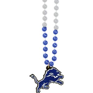 Detroit Lions Pendant Bead Necklace