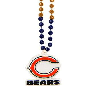 Chicago Bears Pendant Bead Necklace