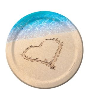 Beach Love Dessert Plates 8ct