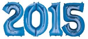 Blue 2015 Number Balloons