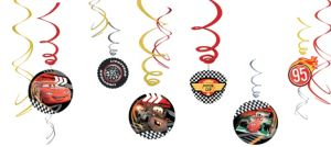 Cars Swirl Decorations 12ct