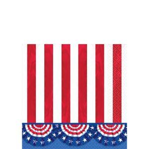 American Pride Patriotic Beverage Napkins 125ct