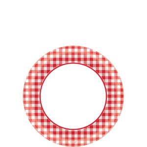 Picnic Party Red Gingham Dessert Plates 40ct