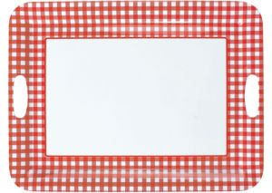 Picnic Party Red Gingham Serving Tray