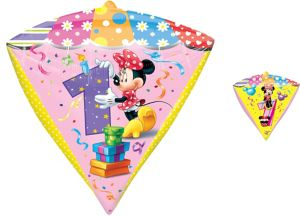 1st Birthday Minnie Mouse Balloon - Diamondz