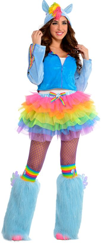 Adult Flirty Rainbow Dash Costume - My Little Pony