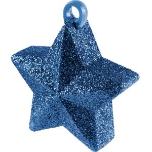 Glitter Blue Star Balloon Weight