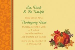 Custom Bountiful Holiday Invitations
