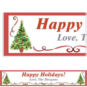 Custom Traditional Christmas Banner 6ft