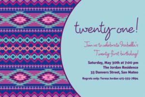 Custom Techno Aztec Cool Invitations