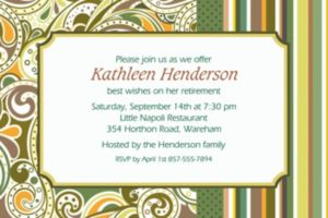 Custom Sage Paisley Invitations