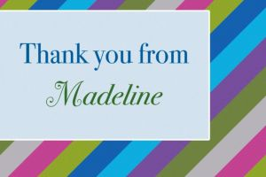 Custom Diagonal Stripe Cool Thank You Notes