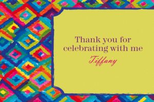 Custom Technicolor Ikat Thank You Notes