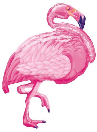 Foil Pink Flamingo Balloon