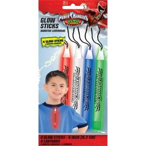 Power Rangers Glow Stick Necklaces 4ct