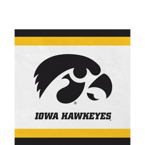 Iowa Hawkeyes Lunch Napkins 20ct