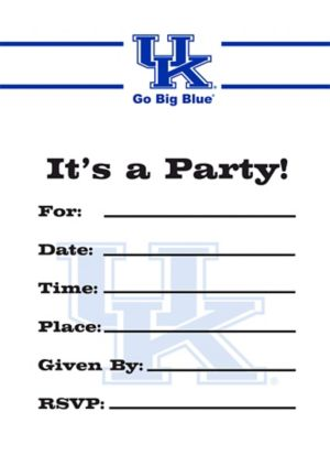 Kentucky Wildcats Invitations 8ct