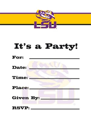 Louisiana State Tigers Invitations 8ct