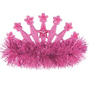 Pink Star Tinsel Tiara