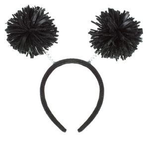 Black Pom-Pom Head Bopper
