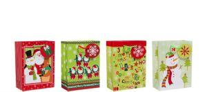 Whimsical Christmas Gift Bags 4ct