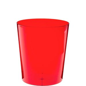 Red Plastic Cylinder Container