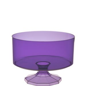 Small Purple Plastic Trifle Container