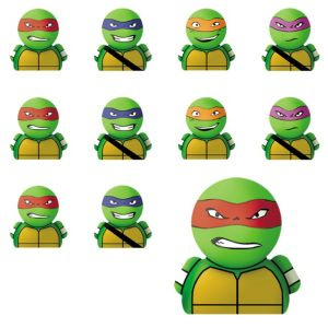 Teenage Mutant Ninja Turtles Finger Puppets 24ct