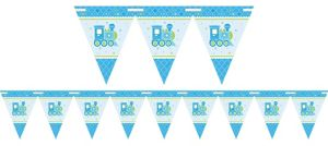 Welcome Baby Boy Baby Shower Pennant Banner