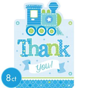 Welcome Baby Boy Baby Shower Thank You Notes 8ct