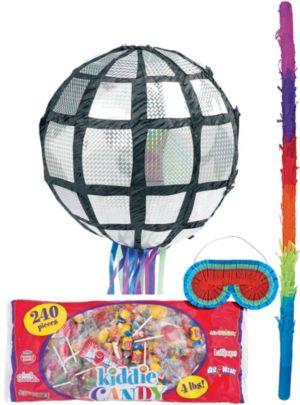Pull String Disco Ball Pinata Kit