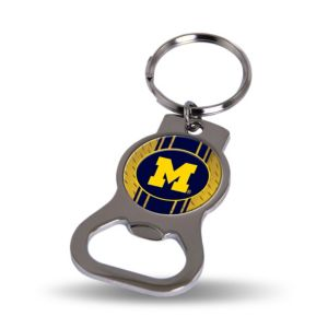 Michigan Wolverines Bottle Opener Keychain