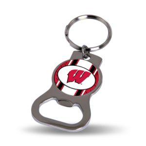 Wisconsin Badgers Bottle Opener Keychain