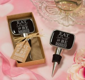 Eat, Drink & Be Married Bottle Stopper